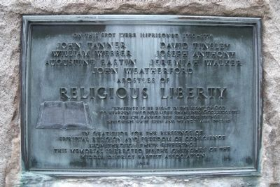 Apostles of Religious Liberty Marker image. Click for full size.