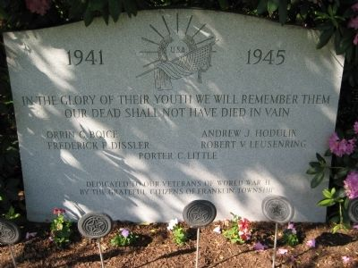 Franklin Township WWII Memorial image. Click for full size.