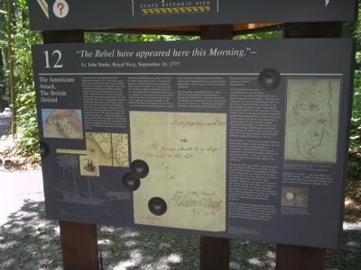 The Americans Attack, The British Defend Marker (Marker 2) Photo, Click for full size