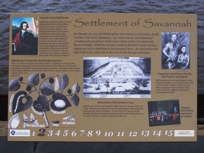 Settlement of Savannah Marker, riverside image. Click for full size.