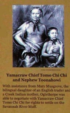Yamacraw Chief Tomo Chi Chi and Nephew Toonahowi image. Click for full size.