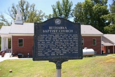 Bethabra Baptist Church Marker in May, 2009 image. Click for full size.