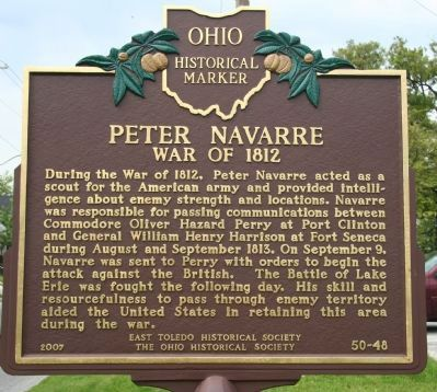 Peter Navarre Marker image. Click for full size.