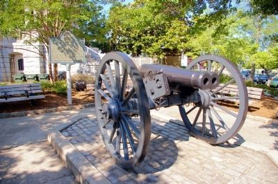 The Athens Double-Barrelled Cannon and Marker Photo, Click for full size