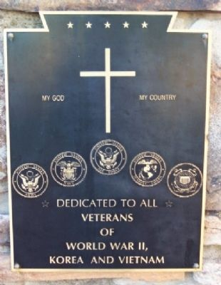 Fulton County World War II, Korea, and Vietnam Memorial image. Click for full size.