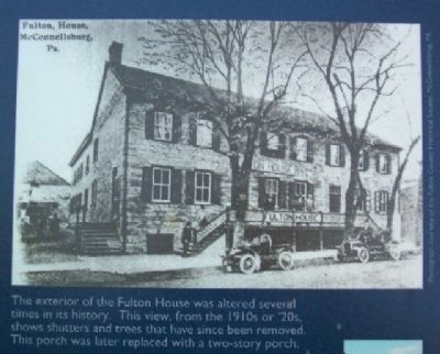Fulton House Photograph on Marker Photo, Click for full size
