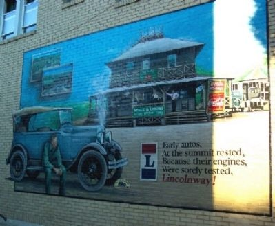 Lincoln Highway Mural to east of Fulton House Photo, Click for full size