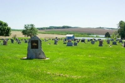Mt. Victory Church Cemetery and Marker image. Click for full size.