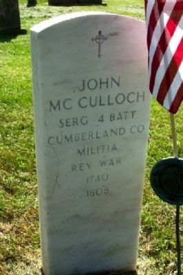 Headstone for Sergeant John McColloch Photo, Click for full size