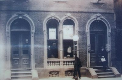 The First National Bank of Newville, c.1917 image. Click for full size.