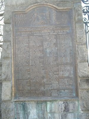 Defenders of Fort Griswold Marker image. Click for full size.