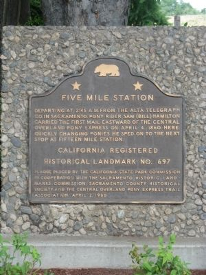 Five Mile Station Marker image. Click for full size.