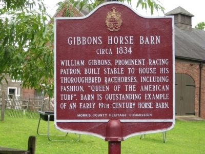 Gibbons Horse Barn Marker Photo, Click for full size