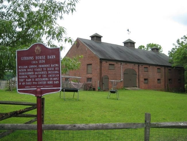 Gibbons Horse Barn and Marker Photo, Click for full size