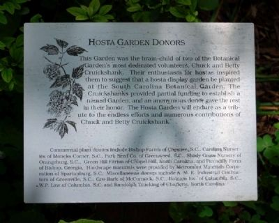 Hosta Garden Donors Marker image. Click for full size.