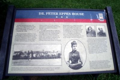 Dr. Peter Eppes House CWT Marker Photo, Click for full size