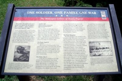 One Soldier, One Family, One War CWT Marker image. Click for full size.
