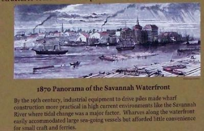 1870 Panorama of the Savannah Waterfront Photo, Click for full size
