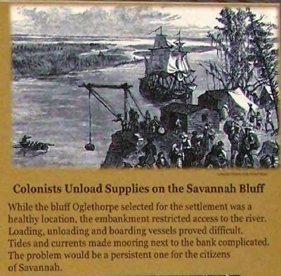 Colonists Unload Supplies on the Savannah Bluff Photo, Click for full size