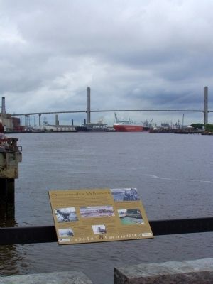 Savannah's Wharves Marker riverside Photo, Click for full size