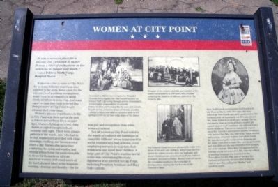 Women at City Point CWT Marker image. Click for full size.
