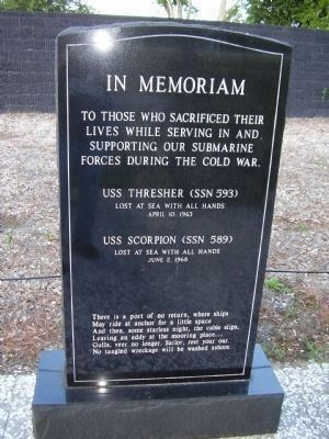 Cold War Submarine Memorial Marker Photo, Click for full size