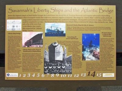Savannah's Liberty Ships and the Atlantic Bridge Marker image. Click for full size.