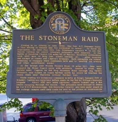 The Stoneman Raid Marker Photo, Click for full size