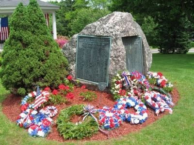 The Boulder on the Watertown Public Green at DeForest Street and Veterans Hill Photo, Click for full size