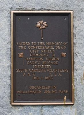 Gist Rifles Monument Photo, Click for full size