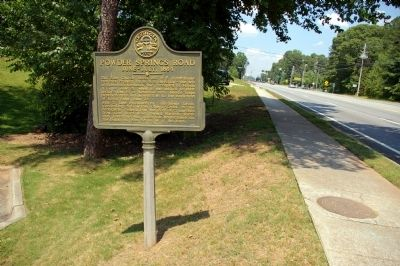 Powder Springs Road Marker image. Click for full size.