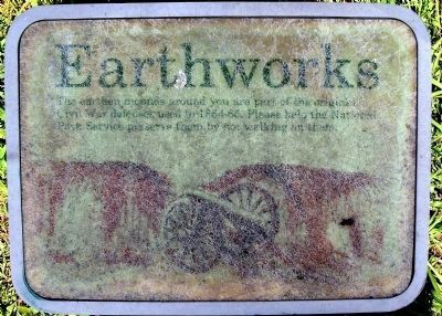 NPS Earthworks Marker. image. Click for full size.