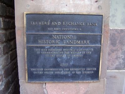Farmers and Exchange Bank Marker Photo, Click for full size