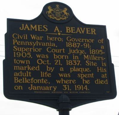 James A. Beaver Marker image. Click for full size.