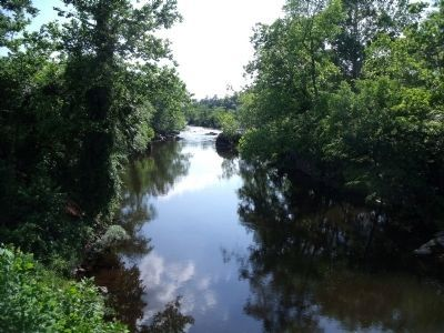 Appomattox River at Campbell's Bridge (upriver). image. Click for full size.