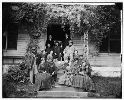 City Point, Virginia. Rufus Ingalls and group. image. Click for full size.