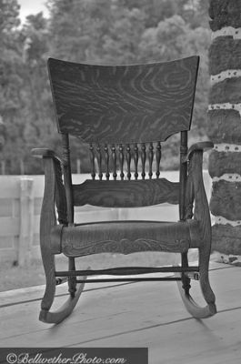 Rocking chair on the front porch image. Click for full size.
