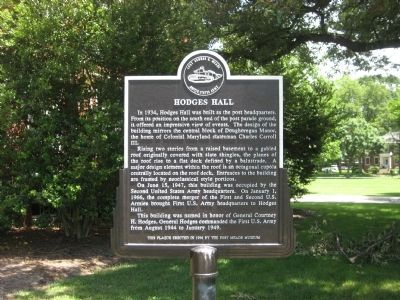 Hodges Hall Marker Photo, Click for full size