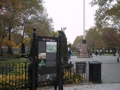 Marker at Battery Park Photo, Click for full size