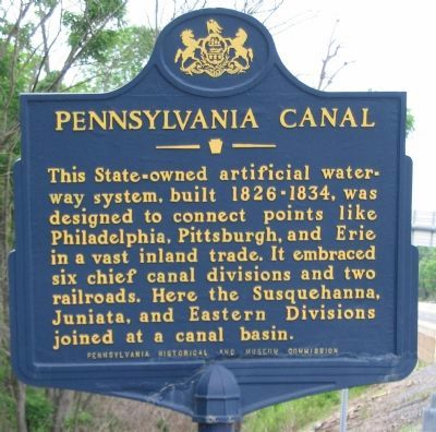 Pennsylvania Canal Marker Photo, Click for full size