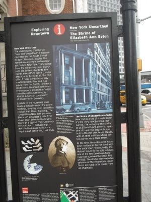 New York Unearthed / The Shrine of Elizabeth Ann Seton Marker image. Click for full size.