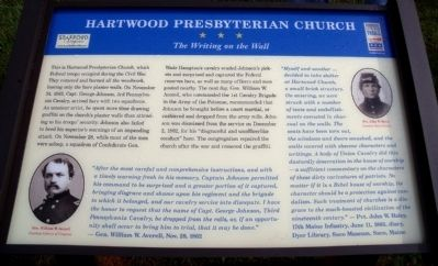 Hartwood Presbyterian Church CWT Marker image. Click for full size.