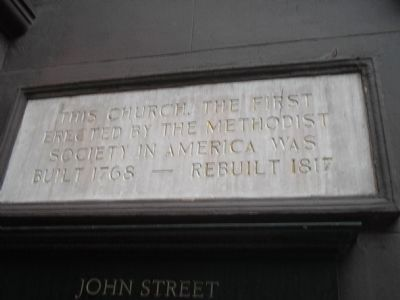 Another Marker at John Street Church image. Click for full size.