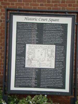Historic Courthouse Square Marker Photo, Click for full size