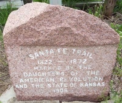 Santa Fe Trail Crossed Here Marker image. Click for full size.
