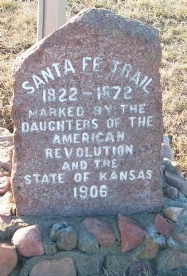 Sante Fe Trail Marker image. Click for full size.