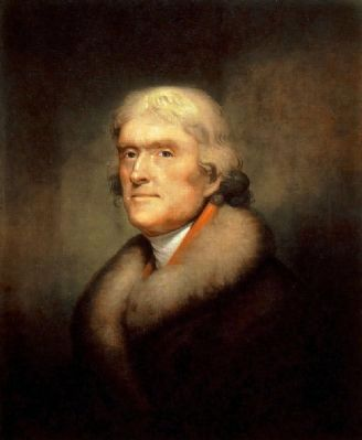 Thomas Jefferson<br>Third President of the United States image. Click for full size.