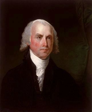 James Madison<br>Fourth President of the United States image. Click for full size.
