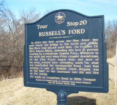 Russell's Ford Marker Photo, Click for full size