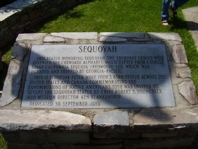 Sequoyah Marker Photo, Click for full size